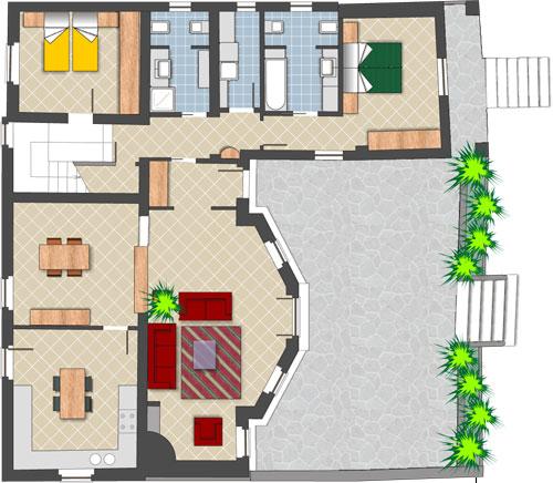Dolcini costruzioni for Planimetrie 1 livello